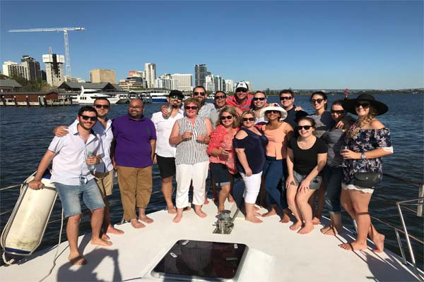 JADEN corporate parties group on bow